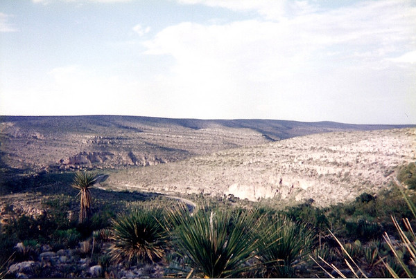 The desert landscape of Carlsbad, NM, circa 1995.