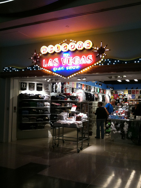 Welcome To Las Vegas Gift Shop at McCarran International Airport, Terminal D.