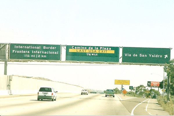 I-5 in San Ysidro, near the Mexico border, circa 1998.
