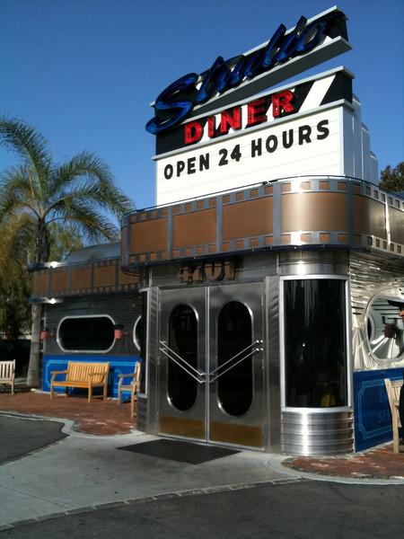 Studio Diner - San Diego, CA. A 24-hour diner next door to a working movie studio.